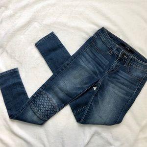 Joe's Jeans skinny denim textured knee detail 14